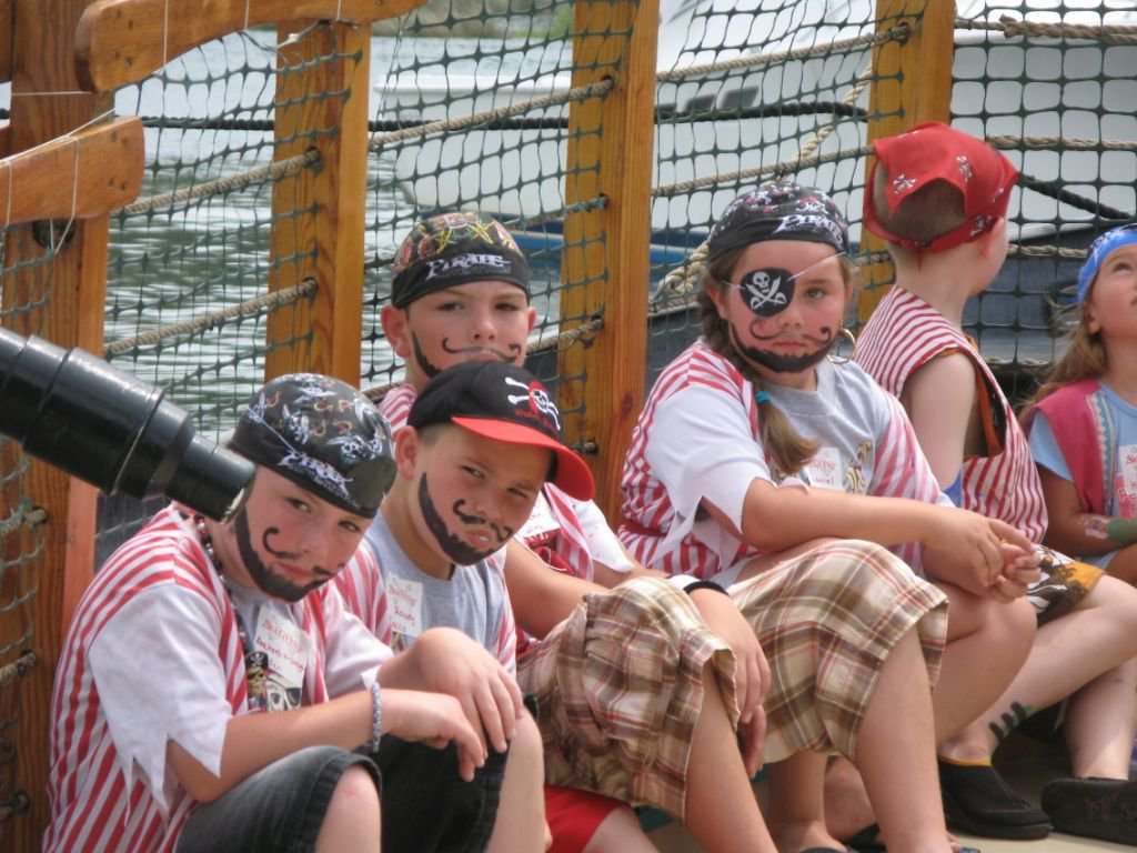 Children at Pirate Adventures in Manteo