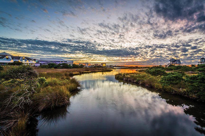 Hatteras Village Soundside Sunset