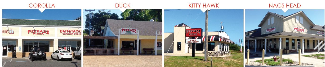 Pizzazz Pizza Outer Banks Locations