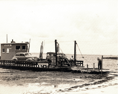 Historic photo of Hatteras ferry