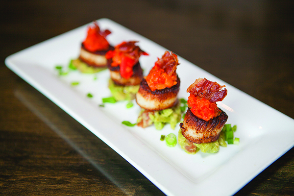 Red Sky Cafe Scallop Appetizer