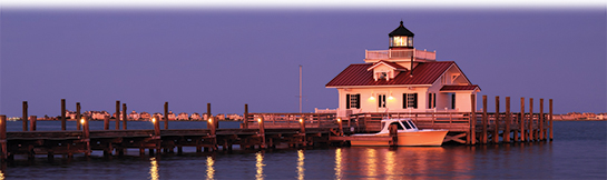 Lighthouse in Manteo Outer Banks