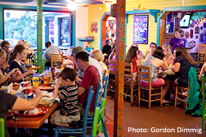 Goombays colorful Caribbean-style dining room