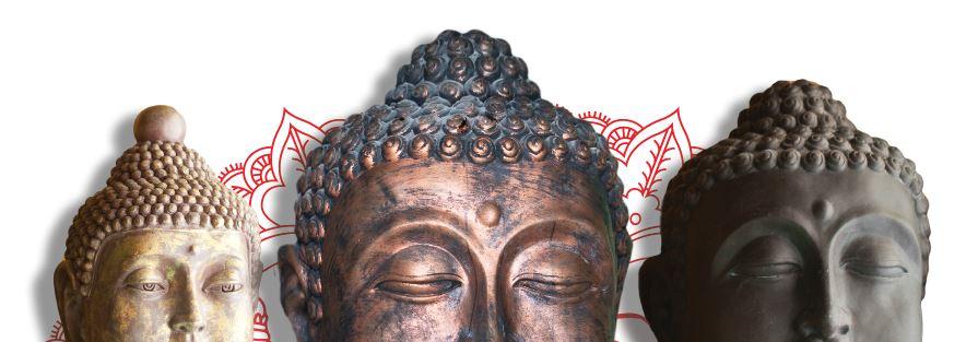 Buddha statues in Buddhalicious restaurant Corolla