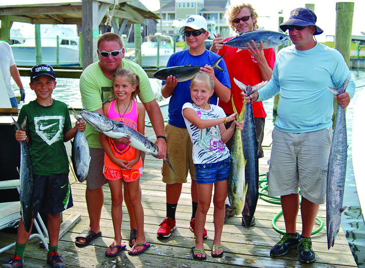 Family fishing on the Albatross Fleet, Hatteras North Carolina