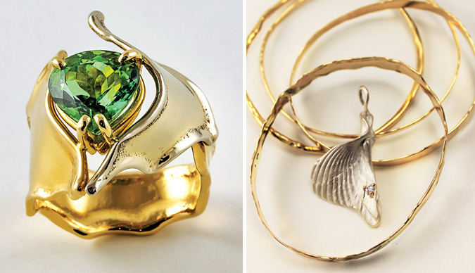 Handcrafted ring and bangle bracelets by Sara DeSpain