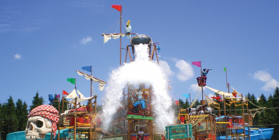 pirate fortress at H2OBX Waterpark