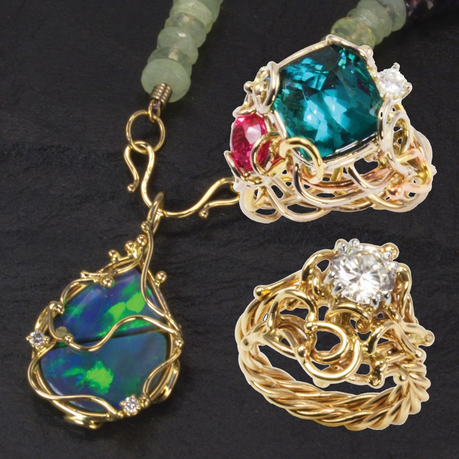 Pieces from a collection by Jewelry by Gail