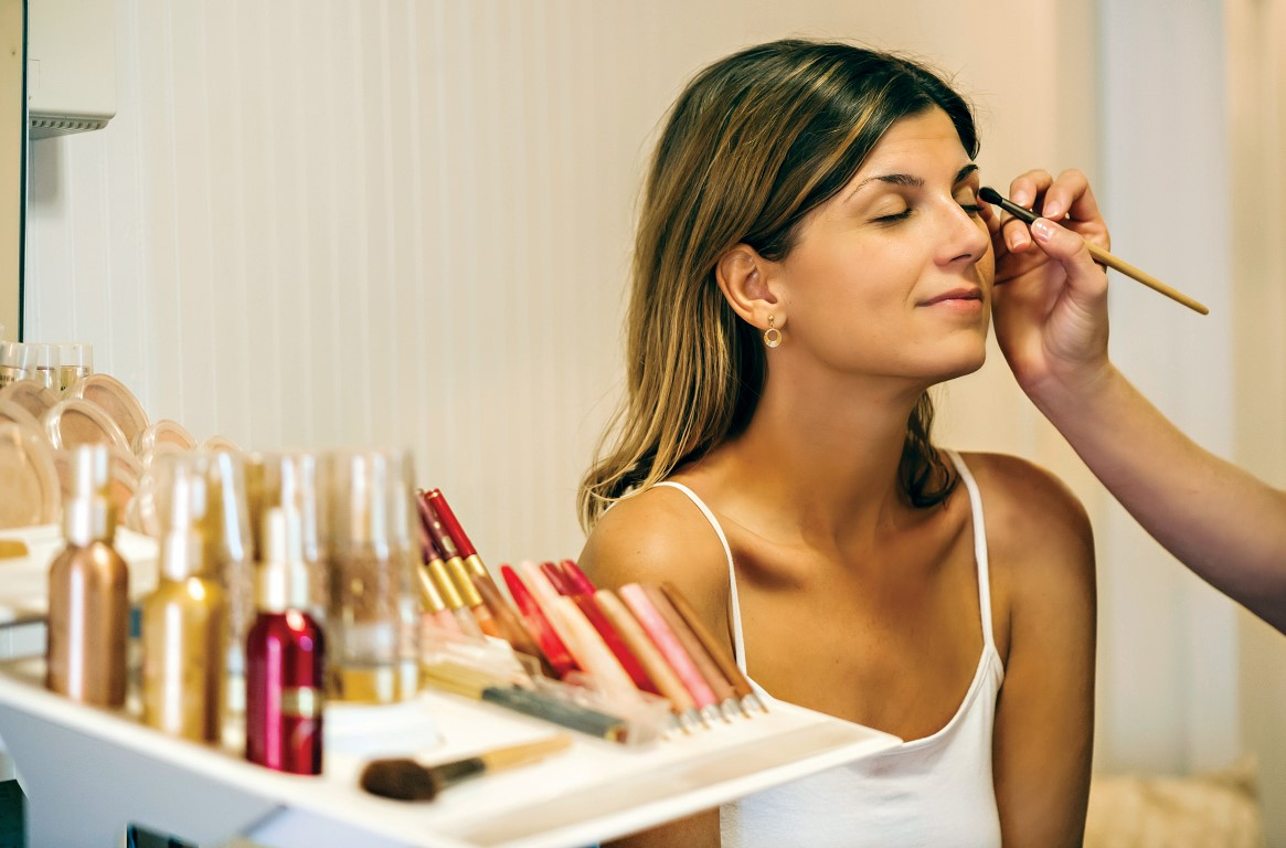 A guest enjoys cosmetic services at the Sanderling Resort spa