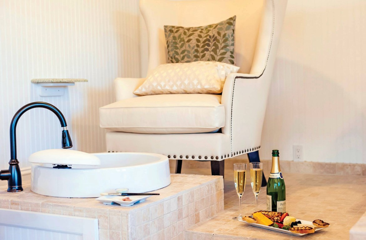 The spa at Sanderling Resort in Duck NC provides maximum comfort