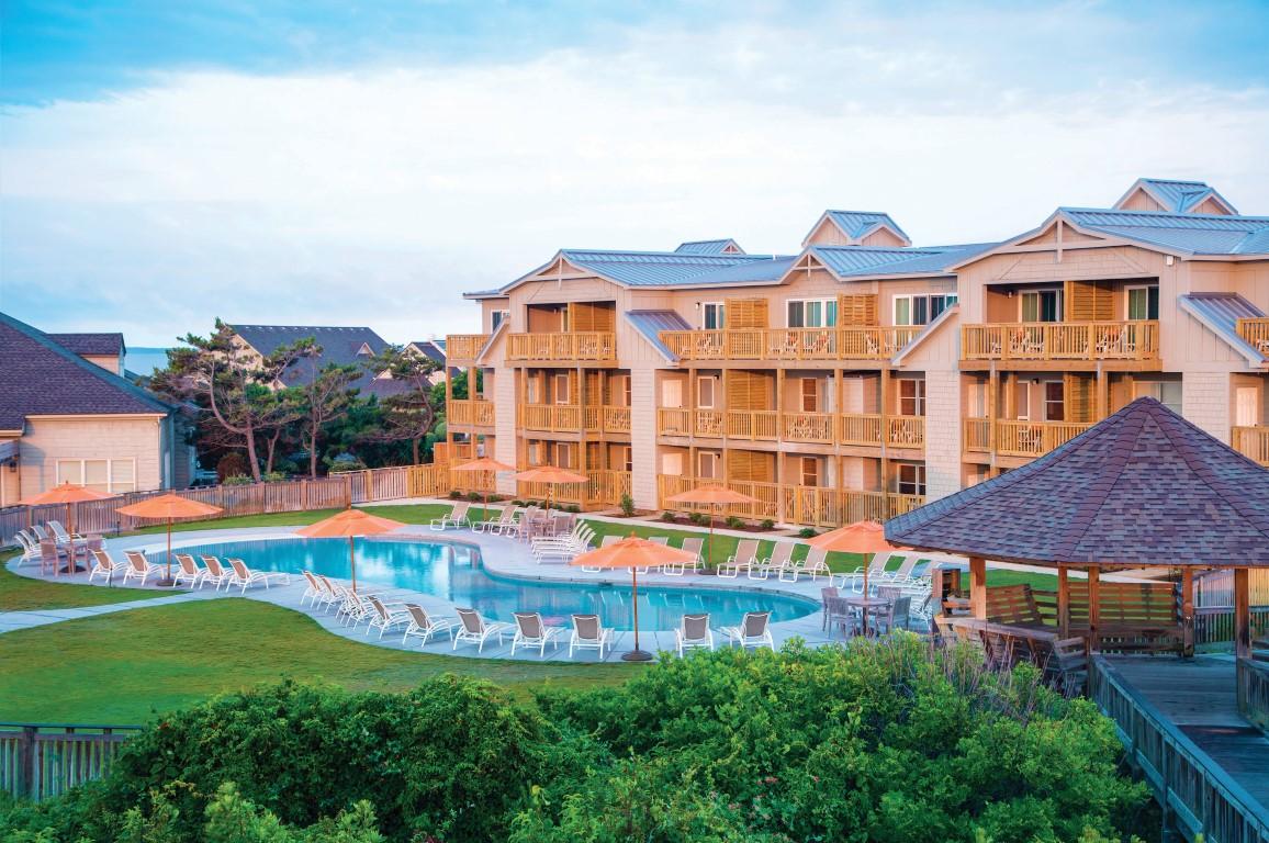 Courtyard pool at Sanderling Resort in Duck NC