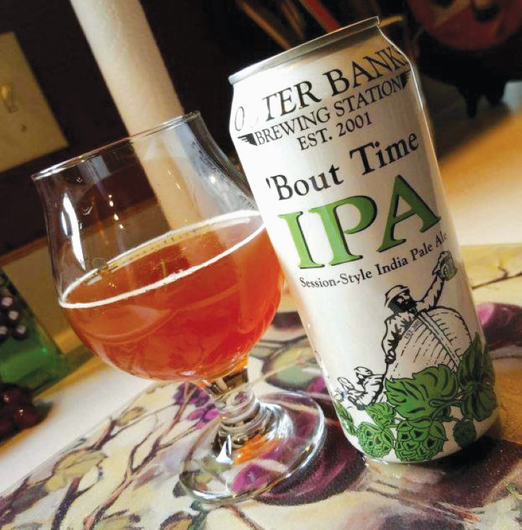 Outer Banks Brewing Station IPA beer can