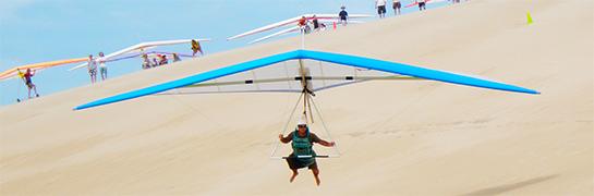Gliders at Jockeys Ridge State Park in Nags Head
