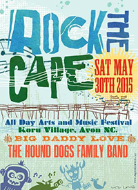 3rd Annual Rock the Cape Festival by Dare County Art Council