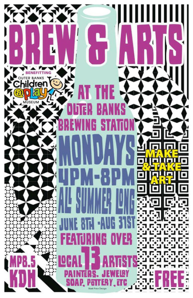 Brew and Arts at the Outer Banks Brew Station