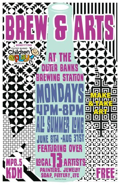 Brew and Arts at Outer Banks Brewing Station