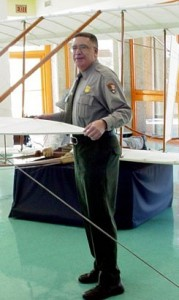 Darrell Collins, Speaker at the Anniversary Celebration of the Wright Brothers First Flight