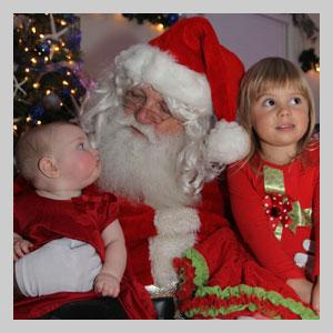 Children with Santa at The Elizabethan Gardens