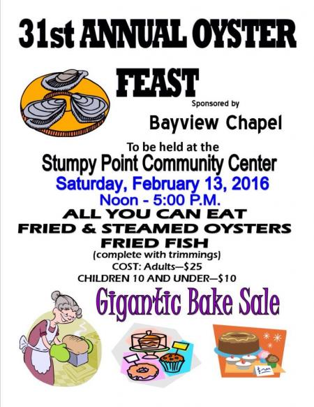 Stumpy Point Annual Oyster Feast
