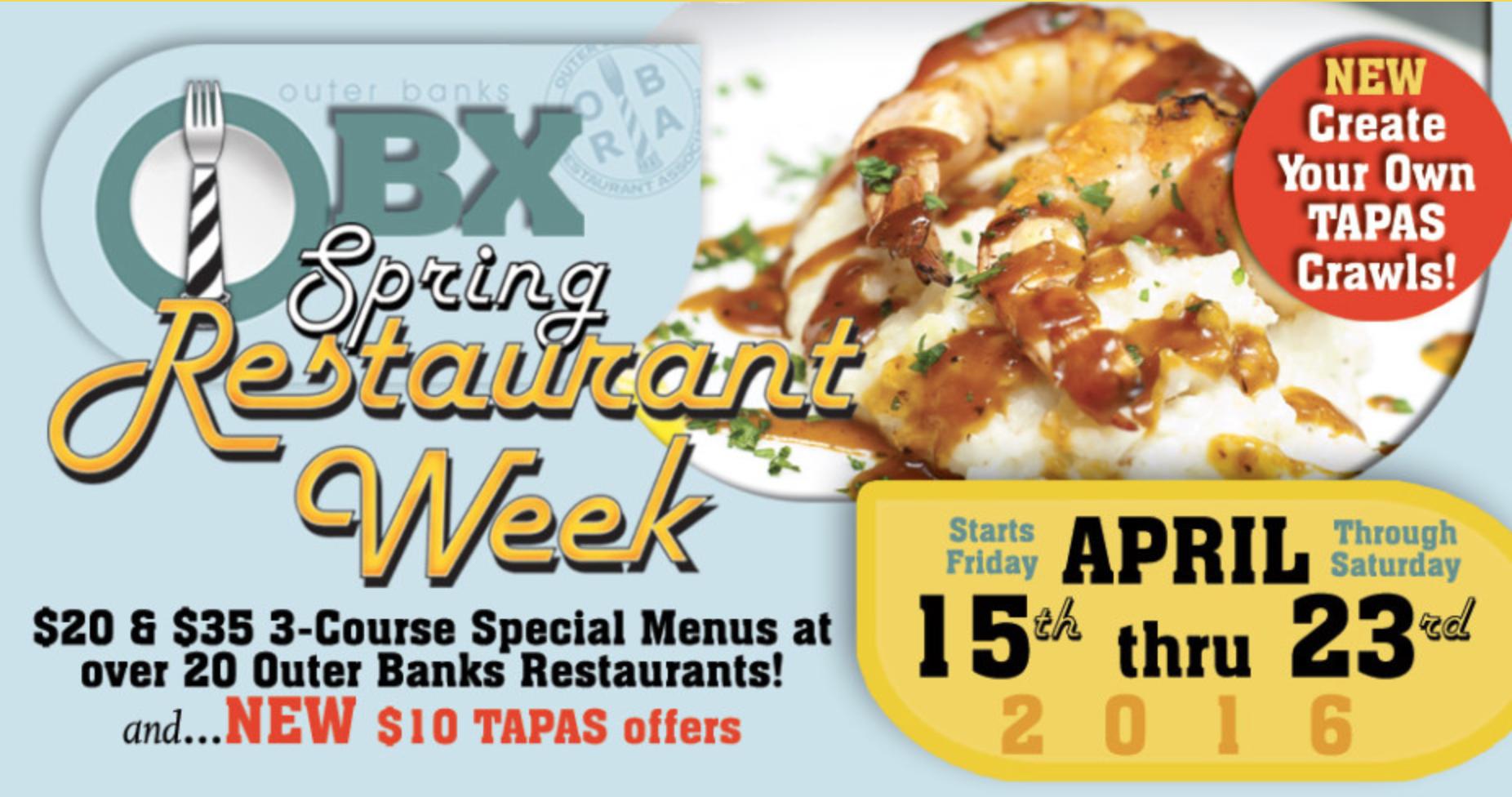 Outer Banks Spring Restaurant Week