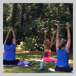 Yoga in Elizabethan Gardens