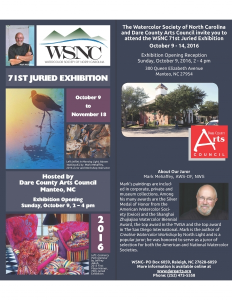 Watercolor Society of North Carolina's 71st Juried Exhibition