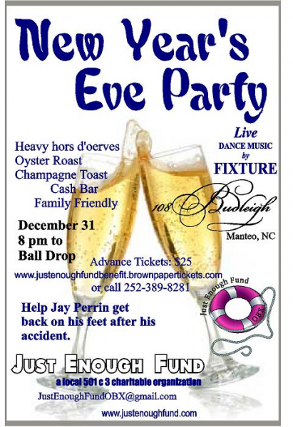 New Year's Eve Party with the Just Enough Fund