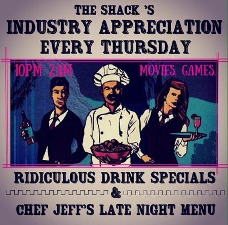 Industry Appreciation Night at Bonzer Shack Bar & Grill