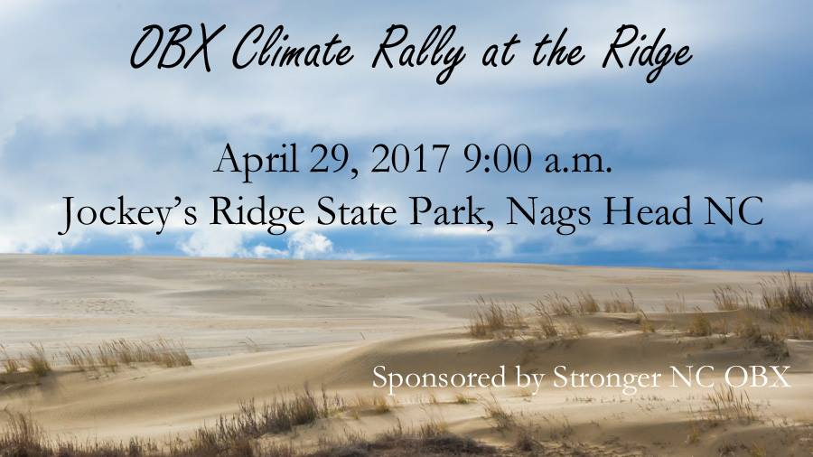 Climate Rally At Jockey's Ridge