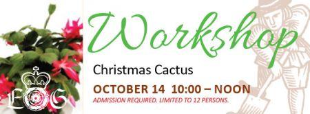 Christmas Cactus Workshop