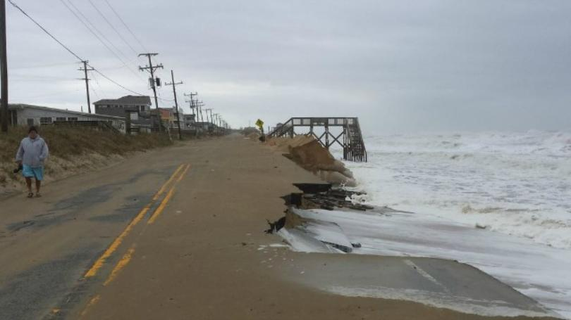 NC 12 Washed Away by storm surge. Photo Credits to WITN.com