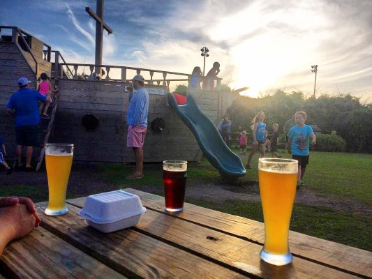 54934bdc89c9 Both dads and kids will find much to enjoy at Outer Banks Brewing Station.