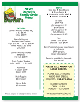 Darrell's Seafood Restaurant Family Takeout Menu