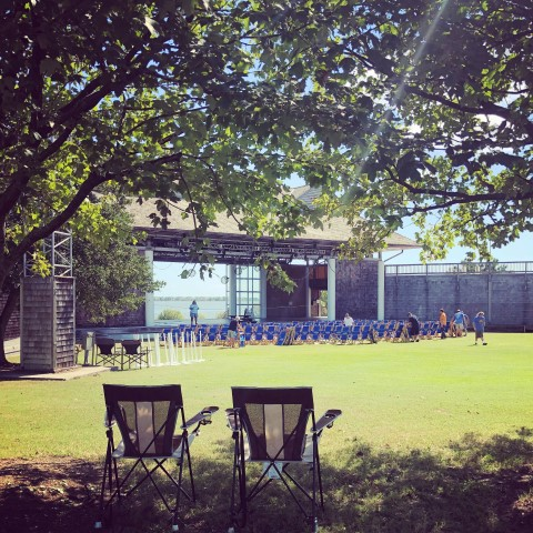 Chairs on Lawn at Bluegrass Festival