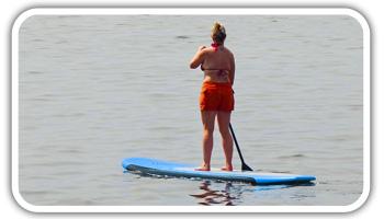 Women Paddling a Standup Paddleboard