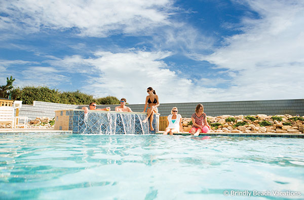 Family Enjoying an Outer Banks Vacation Rental Pool