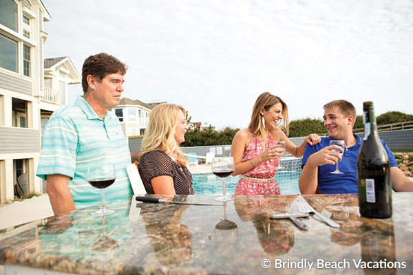 Family Enjoying an Outer Banks Vacation Rental