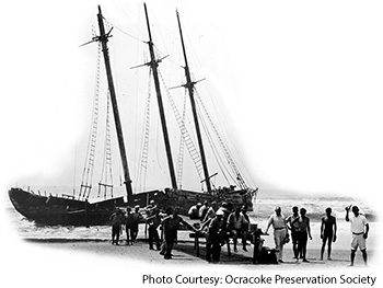 Ship Wreck on Ocracoke Island NC