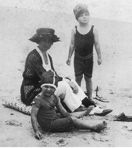 Nags Head Beach Family 1900s