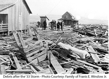 Nags Head Beach Debris after '33 Storm