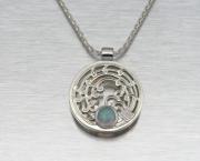 Sterling Rice Stalk Necklace W/ Opal - Silver Bonsai Gallery