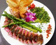 Wasabi and Coriander Crusted Ahi Tuna Filet - Argyle's Restaurant
