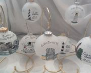 Hand Painted Glass Ornaments - Tar Heel Trading Co.