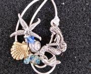 Mermaid Wire Pendant - Sandcastles