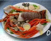Coral Threefer (Steamed) Platter - Fat Crabs Rib Company
