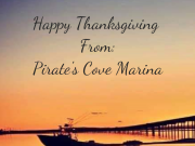 Pirate's Cove Marina, Thanksgiving Eve.!.
