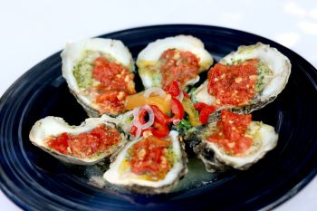 Dajio Restaurant, Chargrilled Pamlico Oysters