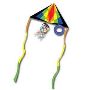 Kitty Hawk Kites, 6.5 Foot Festive Sky Delta Kite Package
