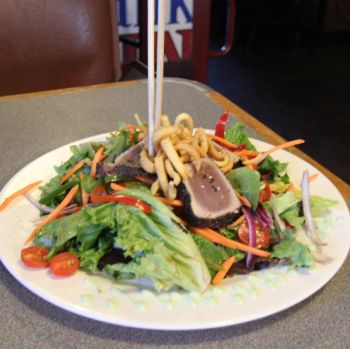 Outer Banks Brewing Station, SEARED RARE LOCAL TUNA
