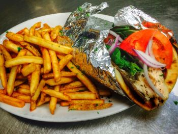 Barefoot Bernie's Tropical Grill & Bar, Gyro Sandwich